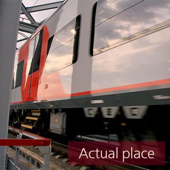 Train passing over bridge - 04