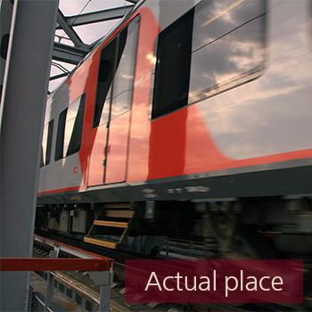 Train passing over bridge - 05