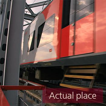 Train passing over bridge - 06