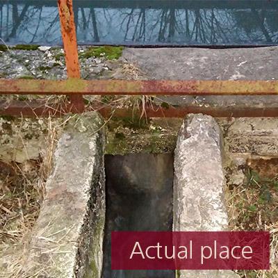 Water drain, gully, drainpipe, waterfall (close distance) - 04