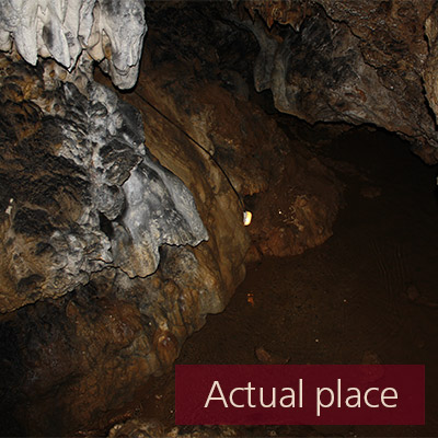 Water dripping in cave - 01