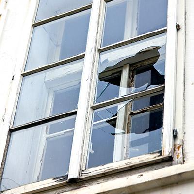 Window glass, drop, break