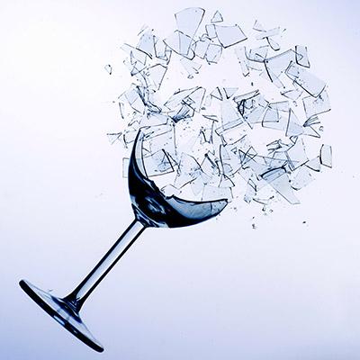 Wine glass breaking - 01