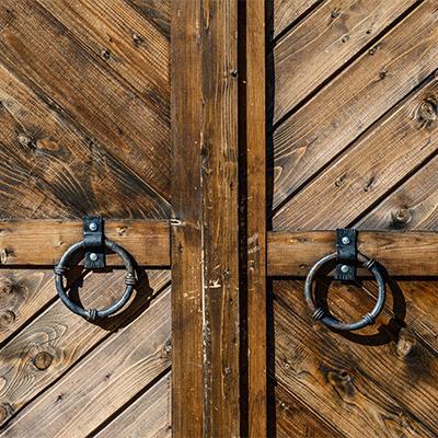 Wooden door, wicket, gate, portal
